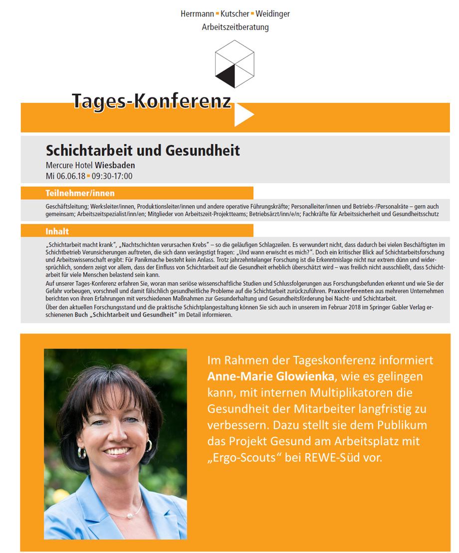 """""""Schichtarbeit und Gesundheit"""" am 06.06.2018 in Wiesbaden"""