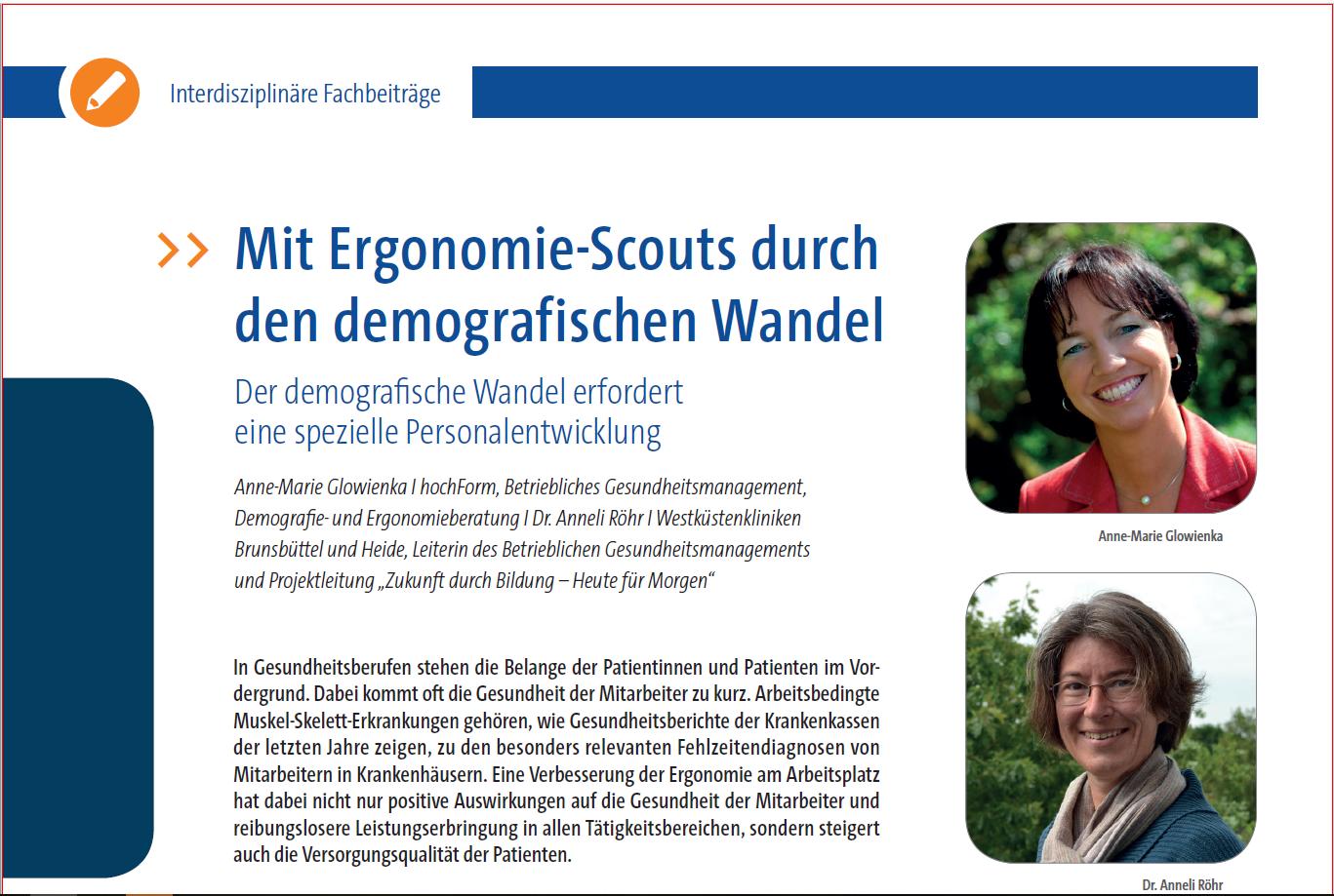 Fachbeitrag: Mit Ergonomie-Scouts durch den demografischen Wandel